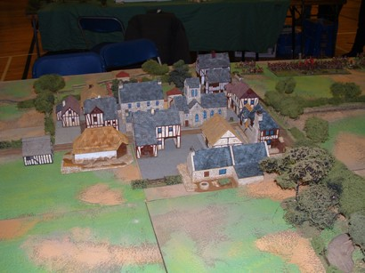 Model town of Ambridge before the battle