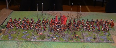 Parliamentarian infantry standing ready