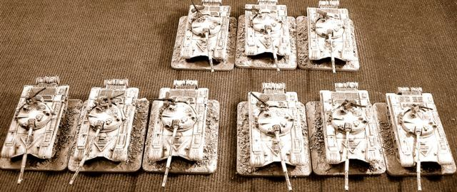 15mm, 1/100th Modern tanks, vehicles, infantry